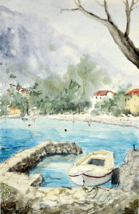 Muo, Kotor, Montenegro - original watercolor landscape painting by Nenad Kojić - Image 0