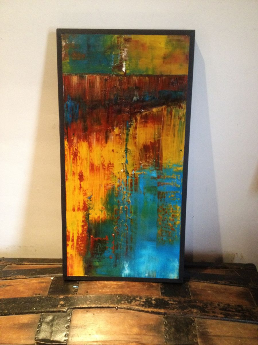 Rust Ii Abstract Painting 2016 Oil Painting By Matthew