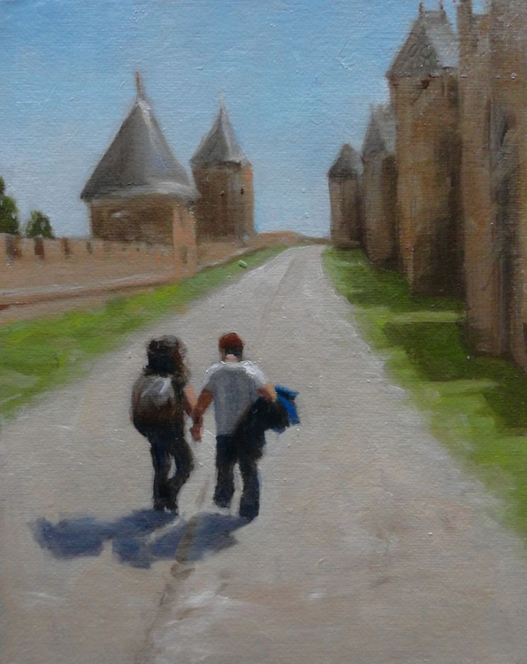 The Unlikely Tourists, Carcassonne, France. - Image 0