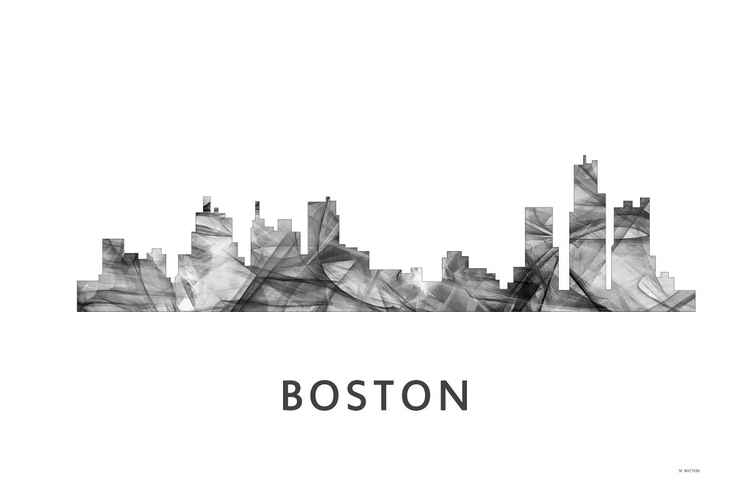 Boston Skyline WB BW