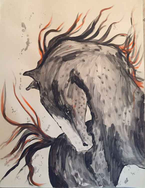 watercolor serie horses I 2016