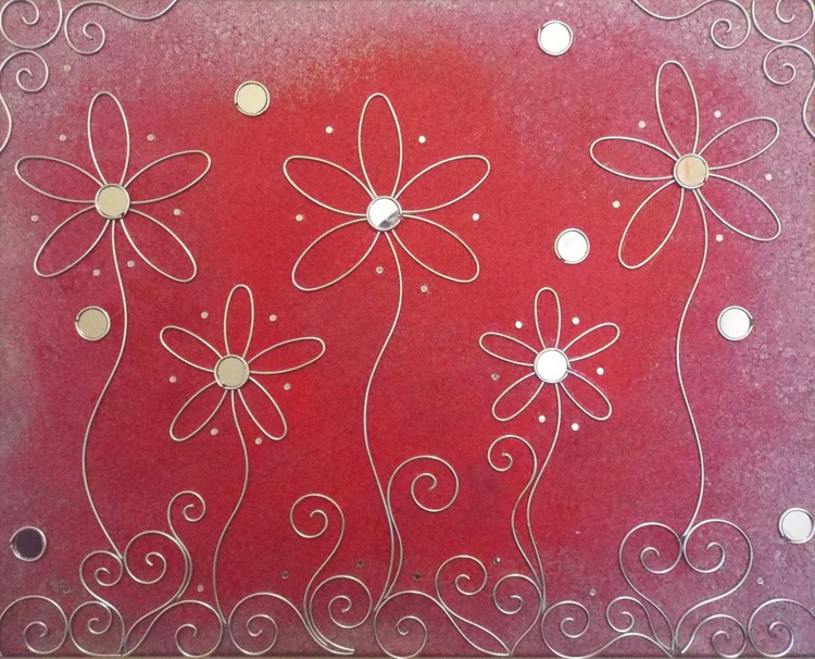 BRAND NEW - Wall Candy Crimson and silver medium - Image 0
