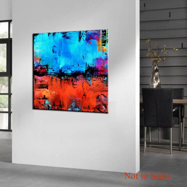 """No. 48"" - Original Square abstract Colorful Urban Modern Art - Image 0"