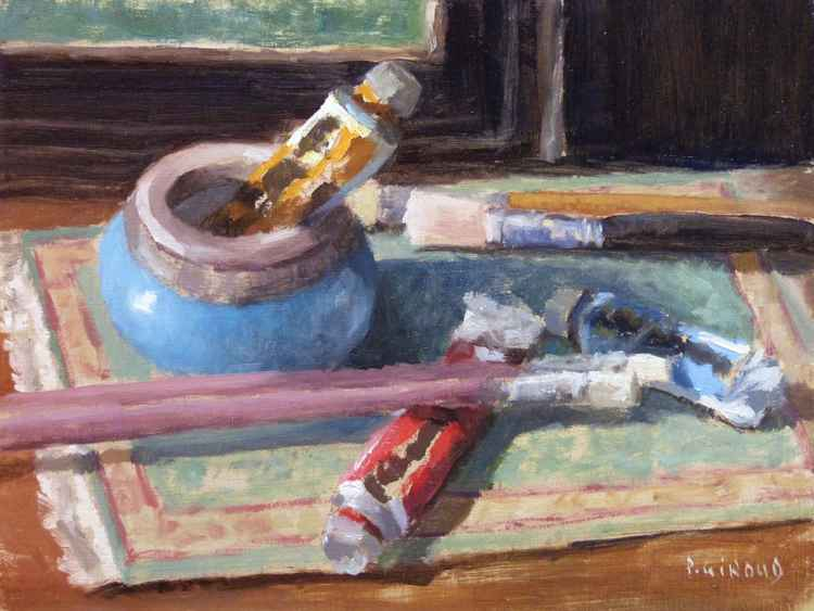 Paint Tubes and Brushes -