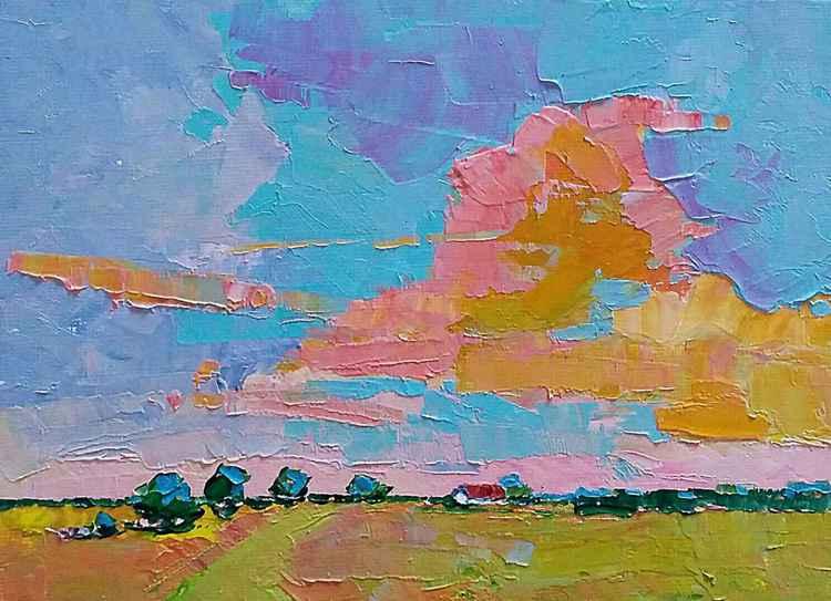 "Sunrise Landscape ""Faraway"""