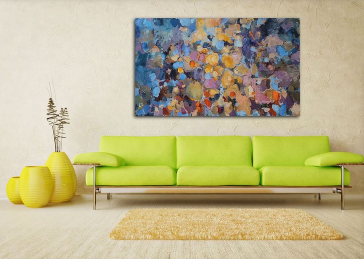 Scrambled Eggs- Large Abstract Painting - Image 0