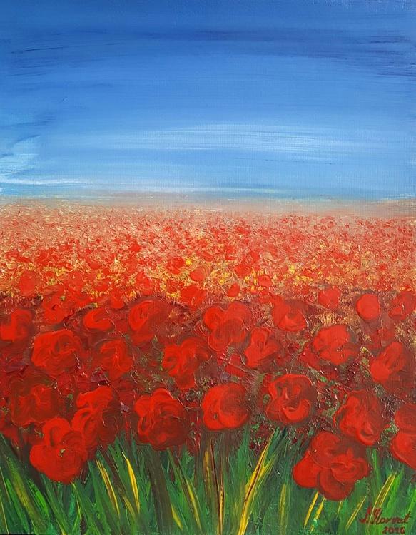 Poppy field 40x50cm - Image 0