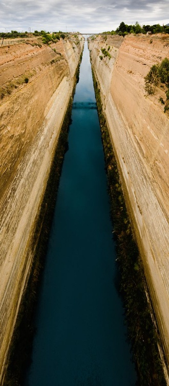 The Corinth Canal (51x110cm) - Image 0