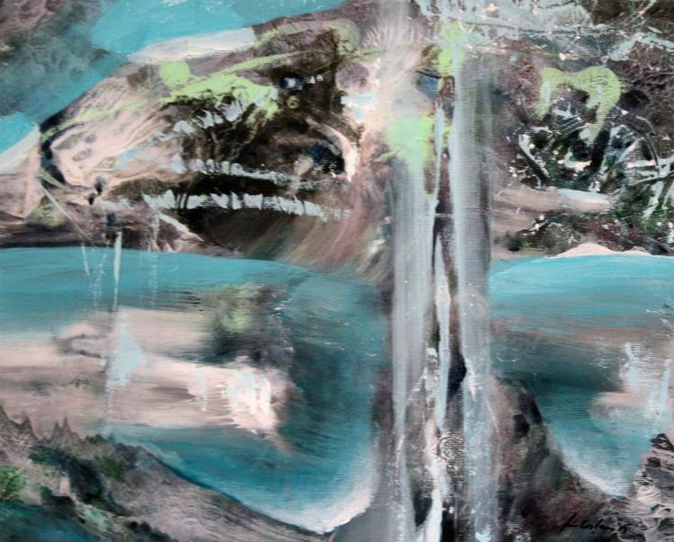 THE TREE SINGULARITY COSMIC LIGHT UNIVERSE EXPANDING DREAMSCAPE MINDSCAPE LANDSCAPE ABSTRACT BY MASTER OVIDIU KLOSKA AFORDABLE ART - Image 0