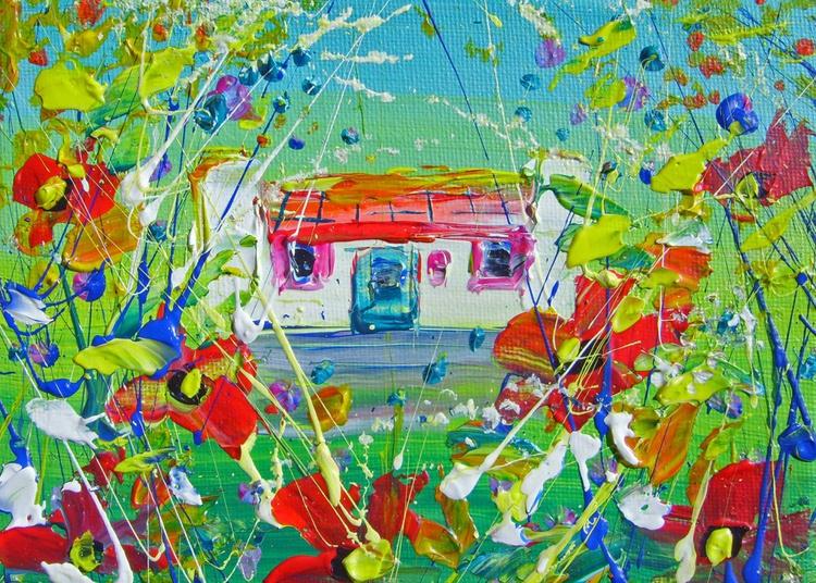 "Miniature Canvas - ""Peeping"" - Image 0"