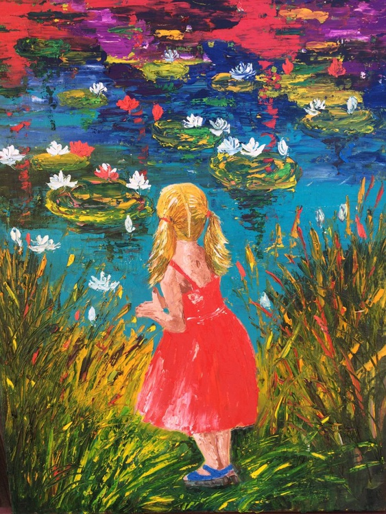 Girl by the magic pond - Image 0