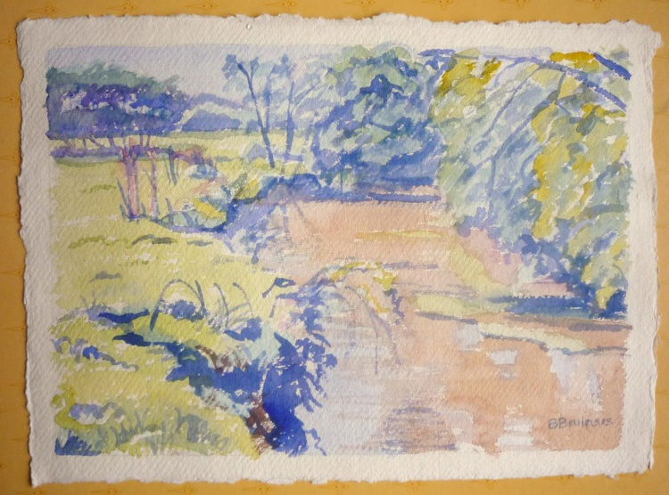 Sketch of the river Waldon in spring - Image 0