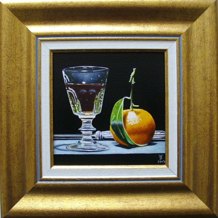 Clementine with glass of wine - Image 0