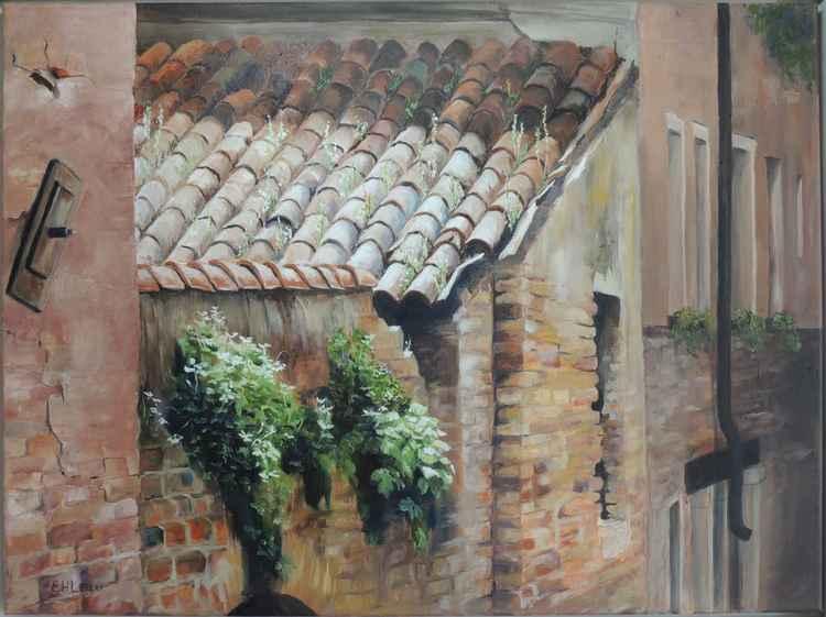 Sunlit roof Venice -