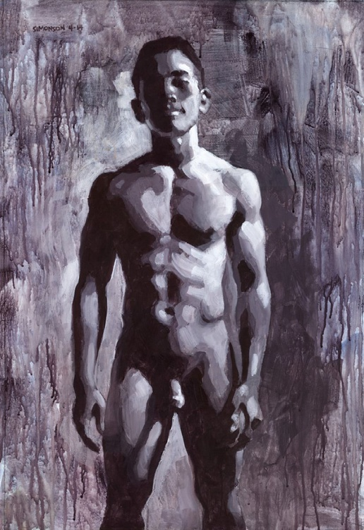 Asian Male Nude in Greyscale - Image 0