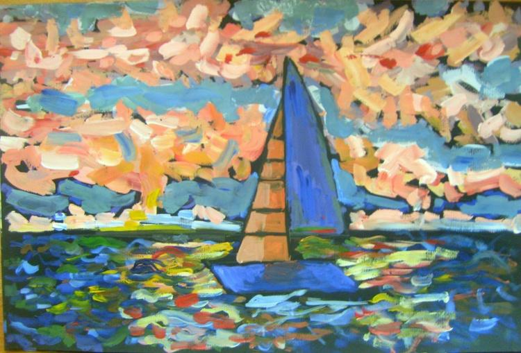 Sailboat, 50x40 cm - Image 0