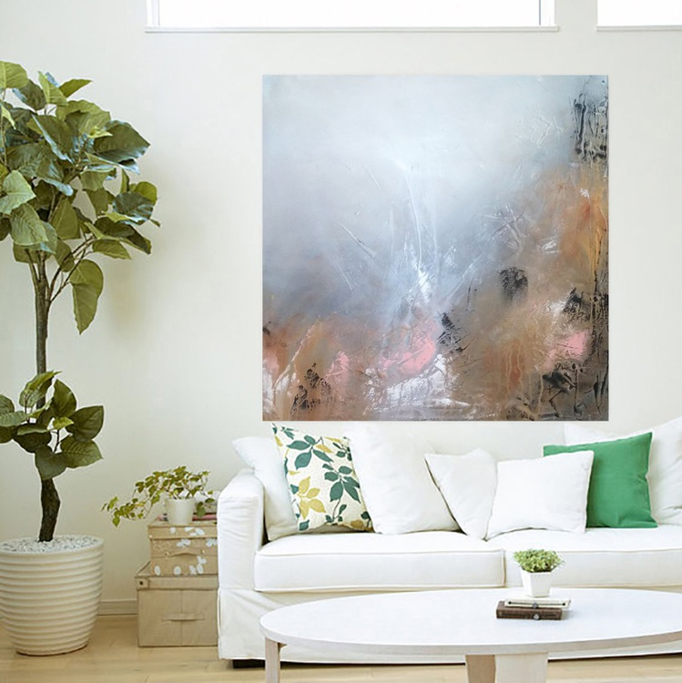 Textured abstract painting - Image 0