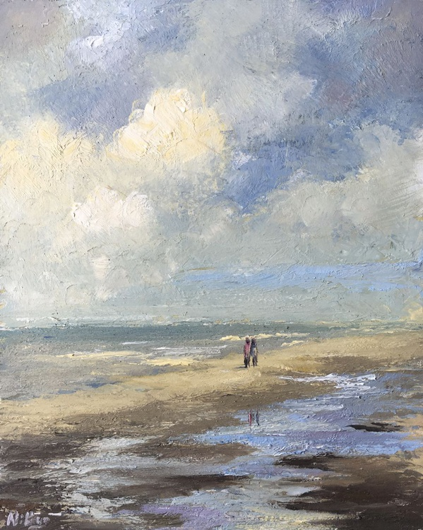 Impressionist Seascape from Holland - Original Oil Painting - Image 0