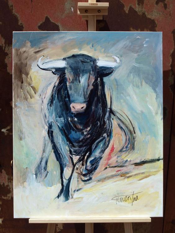 ragging bull (65x81 cm) - Image 0