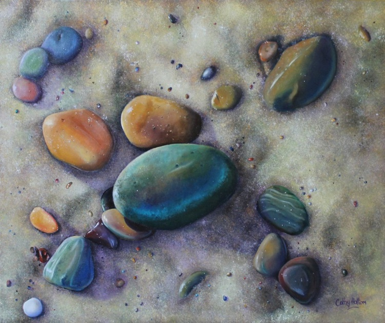 'Pebbles in the Sand' - Image 0