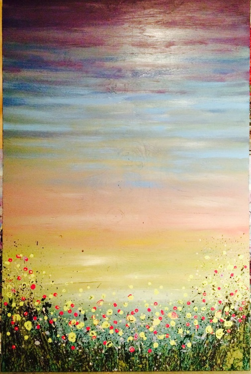 technicolor sunset with daisies - Image 0