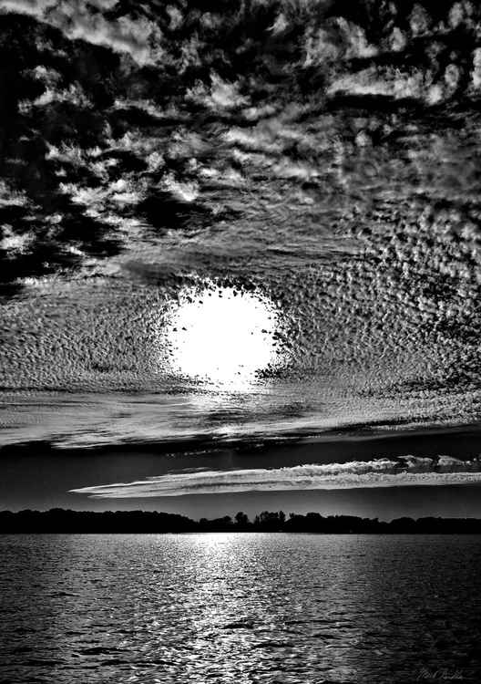 Sunset B&W -