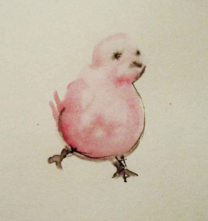 Pink bird -