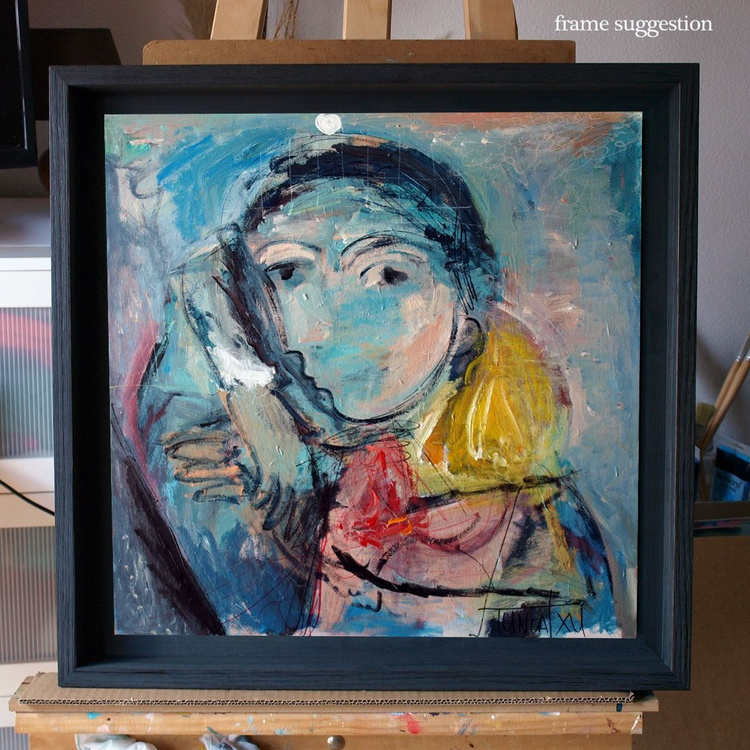 the girl with blue beret - Image 0