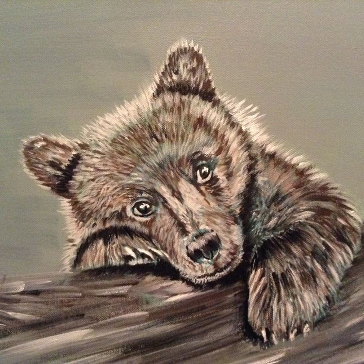 Paws for Thought, 22x18 inch Acrylic on box Canvas - Image 0