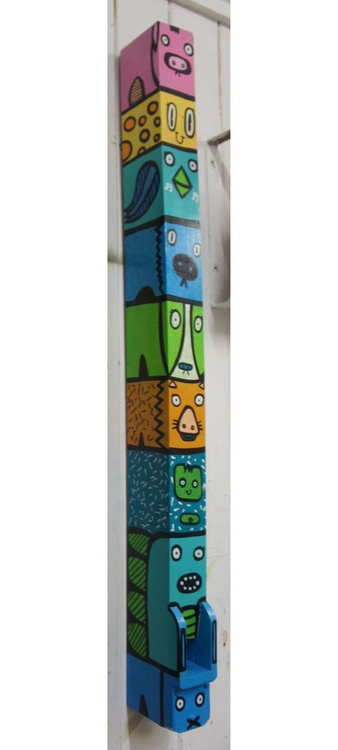 Animal Totem - 90 cm tall painted church organ Pipe - Image 0
