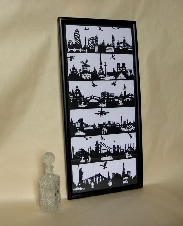 """Travel Landmarks"" (papercut) - Image 0"