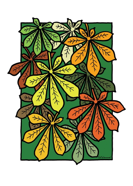 Chestnut leaves - Limited edition of 50 - 50x70 - Image 0