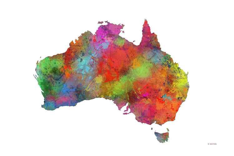 Australian Map 4 -