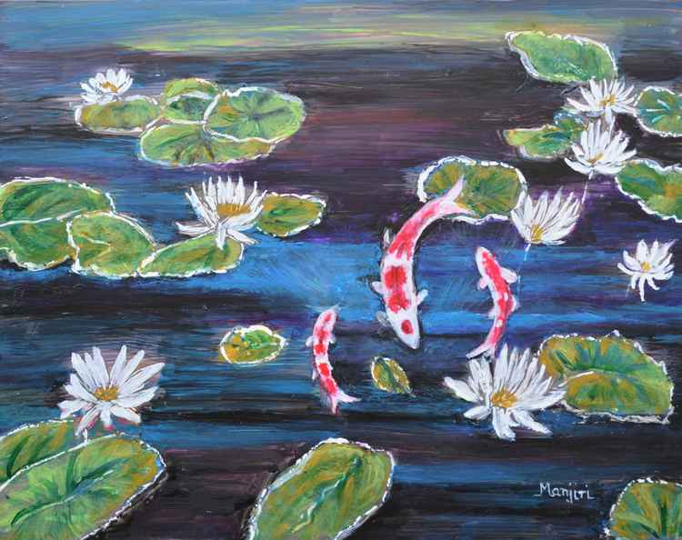 Koi in Lilly Pond -