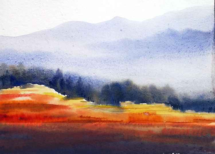 Flowers Valley - Watercolor Painting