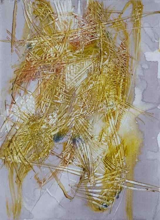 Velocity #3 , Acrylic on paper 29x41 cm