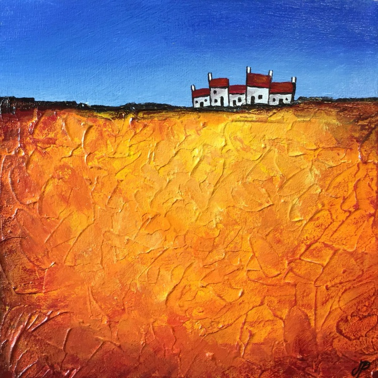 Gold Hilltop terrace, textured landscape - Image 0