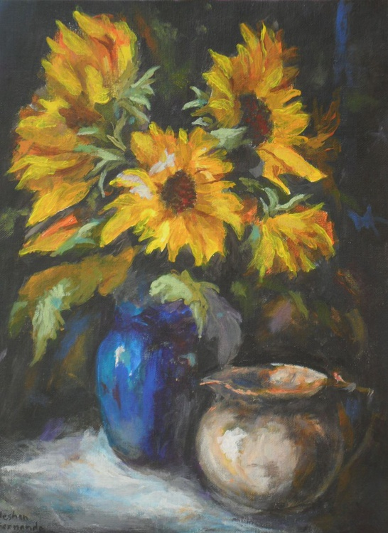Moody Sunflowers - Image 0
