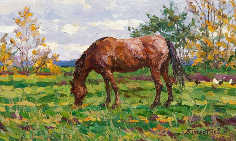 Horses in the Countryside (Summer and Autumn) - Image 0