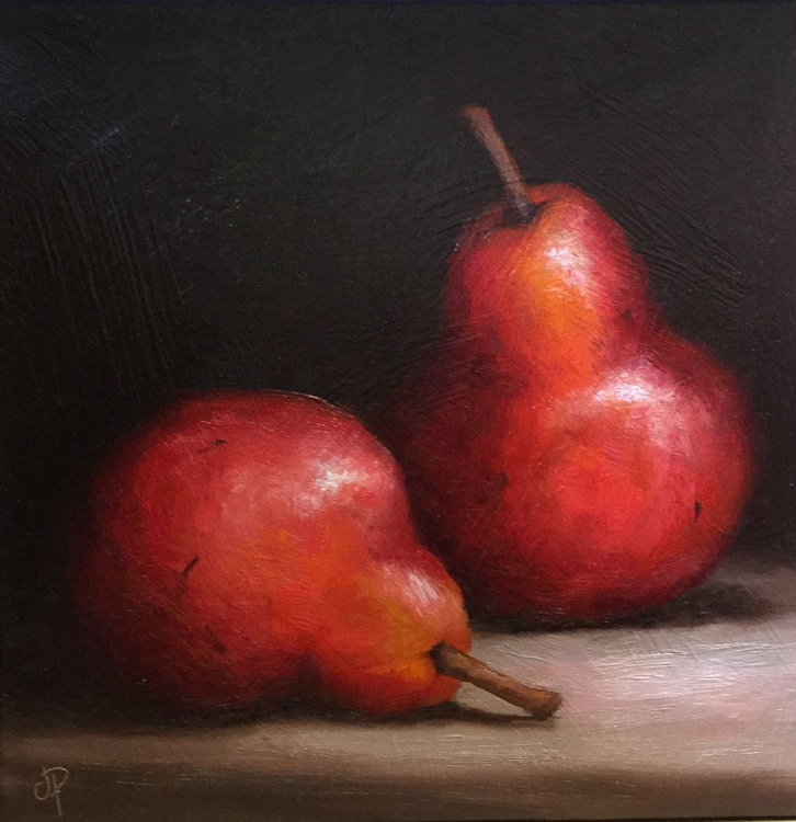 Pair of Red Pears - Image 0