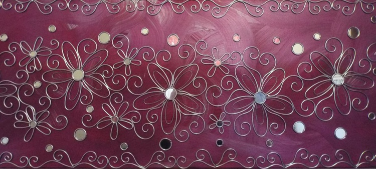Wall Candy Magenta Landscape - Image 0