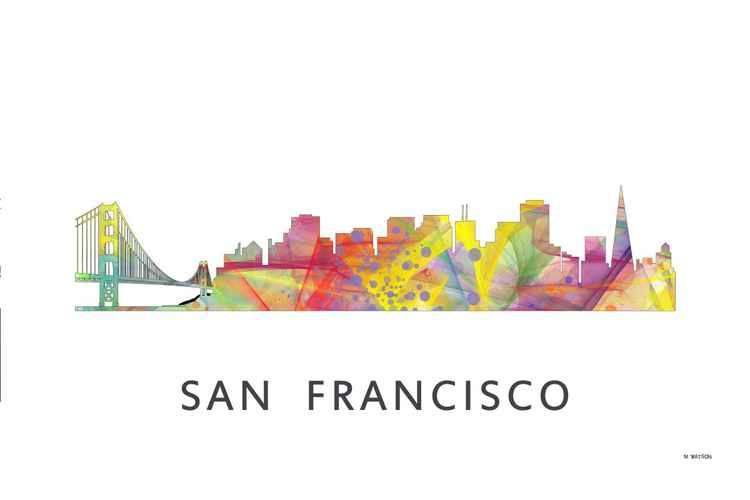 San Francisco California Skyline WB1 -