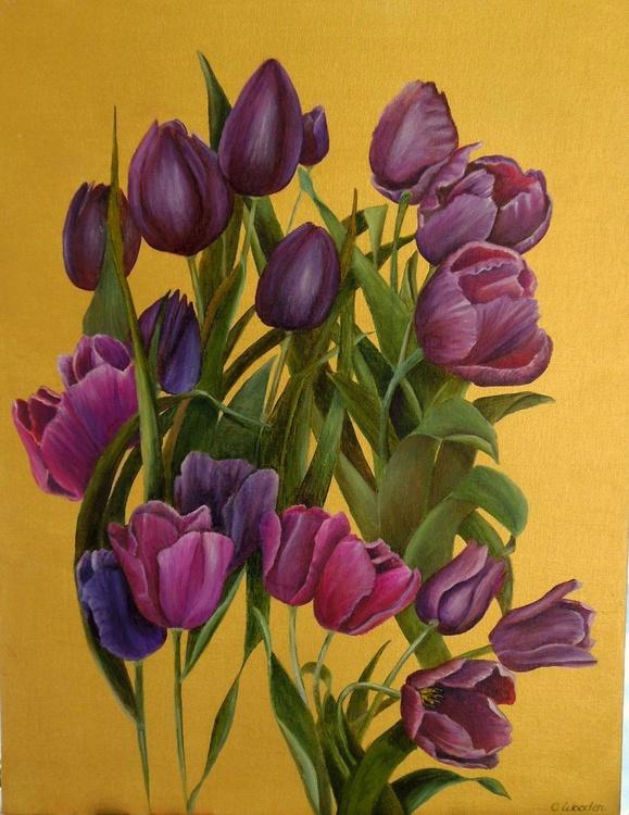 Windblown Tulips - Image 0
