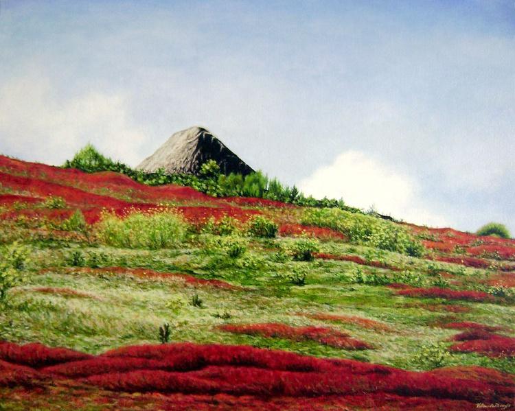 Choza en el Páramo en Rojo - Image 0
