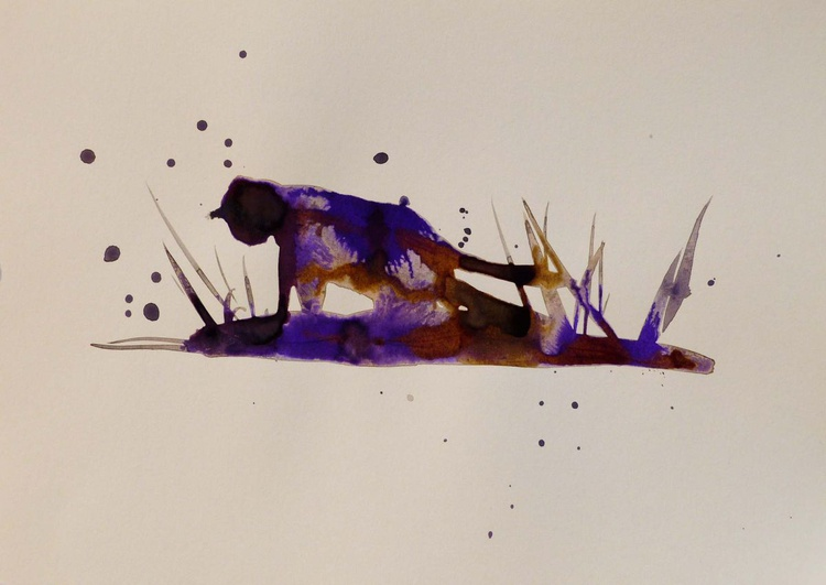 Cat in the rain, 21x29 cm - Image 0