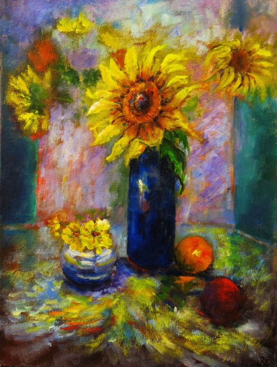 Sunflowers and Fruit - Image 0