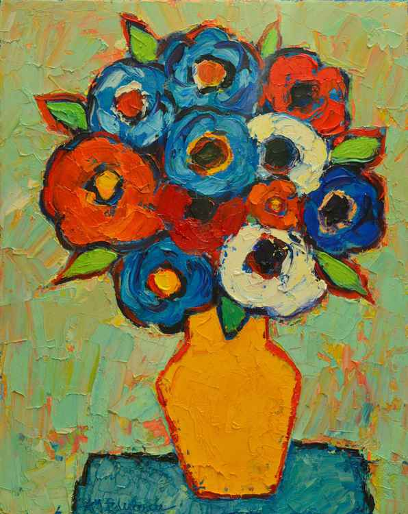 ABSTRACT FLOWERS - COLOURFUL POPPIES AND ANEMONES