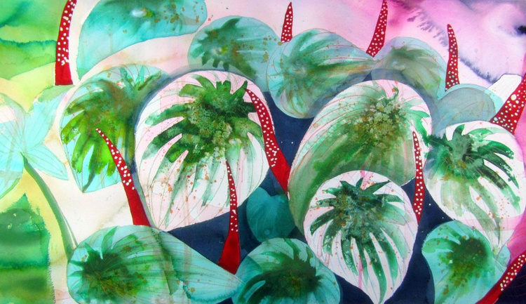 The Private Jungle Paradise (51 x 94 cm) (20.08'' x 37.01'') - Image 0
