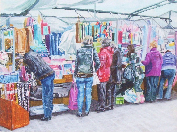 Market Stall in Knaresborough - Image 0