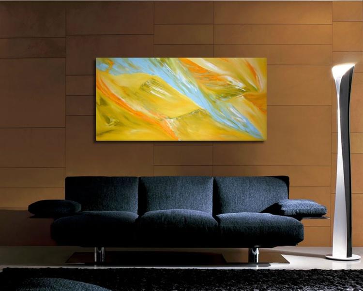 Aleggio di falco - 100x50 cm,  Original abstract painting, oil on canvas - Image 0